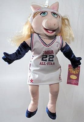 """16"""" NBA All-Star Miss Piggy Plush Doll ~ Muppet Show"""