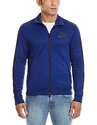 Nike Men's Synthetic Track Jacket (887231855216_544140 455_X-Large_Blue)