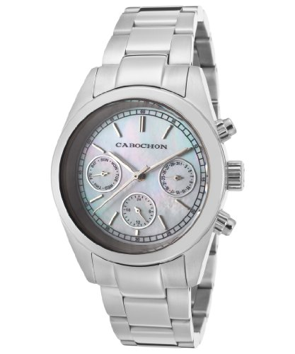 Women's De Ce Monde Multi-Function White MOP Dial Stainless Steel