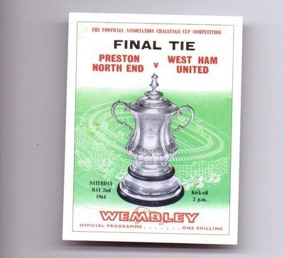 FA-Cup-Final-1964-Programme-Cover-Preston-North-End-West-Ham-Utd-football-card