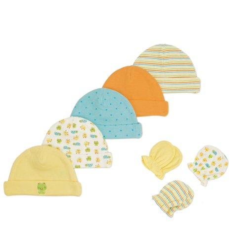 Gerber Unisex-Baby 5 Pack Caps And 3 Pack Mittens