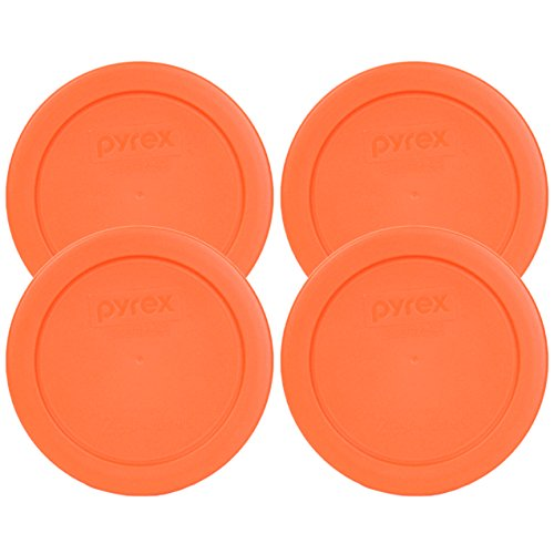 Pyrex 7200-PC Round 2 Cup Storage Lid for Glass Bowls (4, Orange) (Replacement Pyrex Lid 2 Cup compare prices)