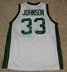 Autographed Magic Johnson Jersey - #33 White - PSA DNA Certified - Autographed...
