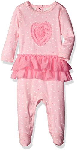 The Children's Place Baby Sleep 'N Play Romper, Tutu/Whisper Pink, 0-3 Months