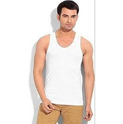 VIP Frenchie Elite White Men's Cotton Vest Pack of 5 (X-Large)