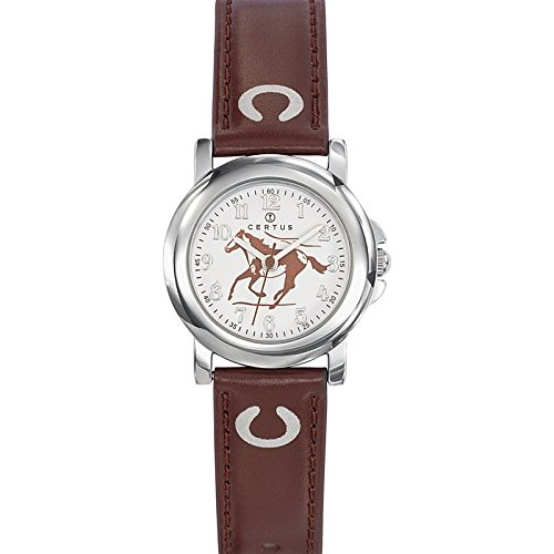 Certus - 647592 Synthetic Strap Unisex Watch - Analogue Quartz - White Dial - Brown