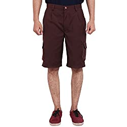 FBBIC Extraordinary Brown Men's Solid Short(Size::4XL)