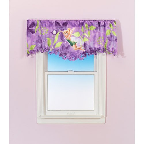 "Disney Fairies, Tinkerbell one pole top VALANCE 50"" x 18"" - 1"