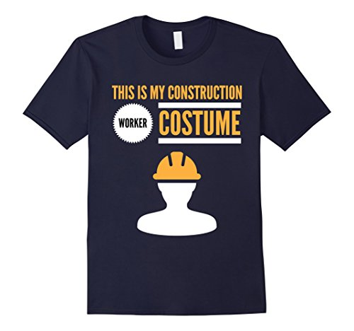 [Men's Funny Halloween Shirt This is my Construction Worker Costume 2XL Navy] (Man Construction Worker Costume)