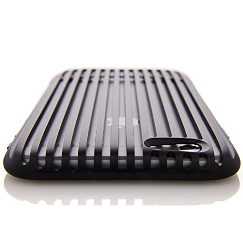 SQUAIR iPhone 6 ケース 【The Slit】 日本製 ドレスケース 超々ジュラルミン A7075を贅沢に削り出し 金属製  アルミ 合金 バンパー 工具不要 | ブラック | SQSLT600-BLK