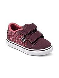 DC Anvil V Youth Vulcanized Shoes Skate Shoe (Toddler/Little Kid/Big Kid), Purple/White, 7 M US Toddler