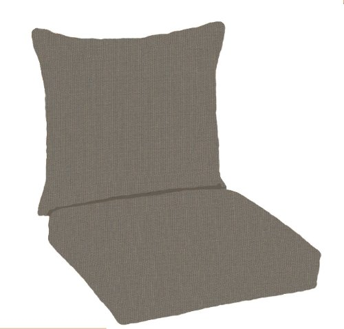 Paradise cushions indoor outdoor deep seating pillow back with hinged seat graphite furniture - Hinged outdoor cushions ...