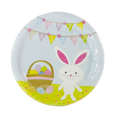 Happy Easter Bunny Plates - Pack of 18 - 9 in Plates