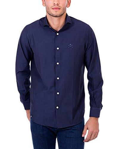 POLO CLUB Camisa Hombre Maverick Academy Slim Azul Marino