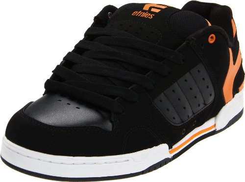Etnies Piston Black/Orange/White Shoe (UK9)