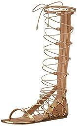 Aldo Women\'s Lexandra GLADIATOR Sandal, Gold, 7.5 B US
