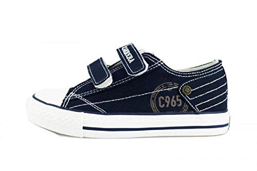 CARRERA JEANS sneakers bambino blu / rosso tela (34 EU, Blu)
