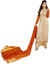 Shenoa Women's Tassar Silk Unstitched Dress Material(1118, Beige)