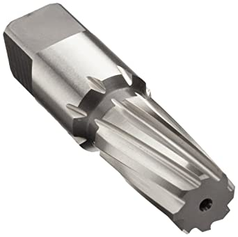 Union Butterfield 4600 High-Speed Steel Taper Pin Reamer, Left Hand Spiral Flute, Round With Square End Shank, Uncoated (Bright) Finish