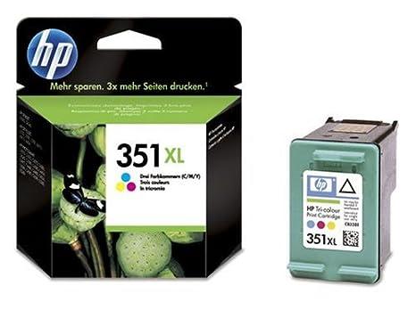 HP CB338EE Cartouche d'encre Bleu Rose Jaune