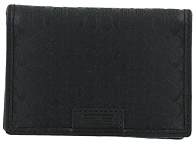 Coach F74580 Men's Unisex Slim Wallet Billfold Black