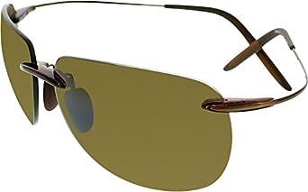 Maui Jim H527-26 Rootbeer Nakalele Rectangle Sunglasses Polarised Cricket, Sail