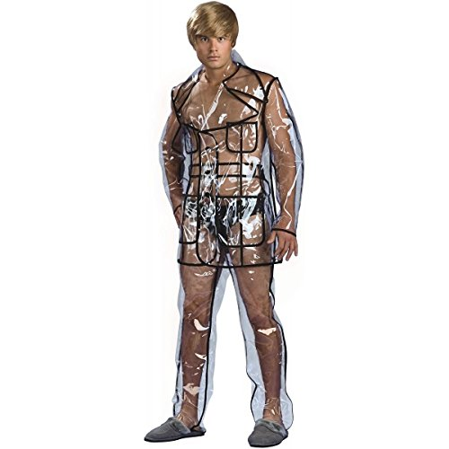 [GSG Bruno Clear Vinyl Suit Costume Adult Funny & Whacky Gay Character Halloween] (Gay Star Wars Costume)
