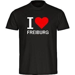 T-Shirt Classic I Love Freiburg schwarz Herren Gr. S bis 5XL