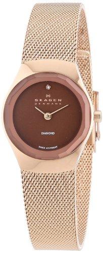 Skagen - 432SRRD - Montre Femme - Quartz Analogique - Bracelet Acier Inoxydable Or et Rose