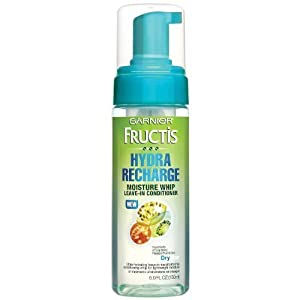 Garnier Fructis Hydra Recharge Moisture Whip Leave-In Treatment For Dry Hair, 5 Fluid Ounce (Pack of 3)