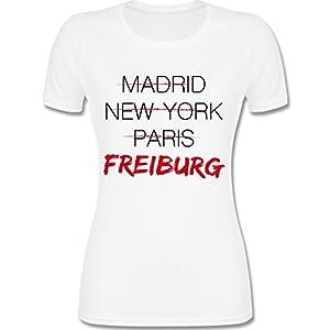 Städte - Weltstadt Freiburg - F355 Damen Frauen Laufshirt Funktionsshirt Running Lady-Fit Performance T atmungsaktiv