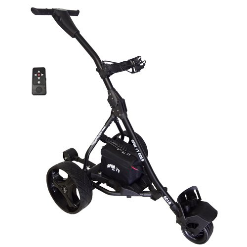 Spin It Golf Products Gc1R Remote Controlled Electric Golf Caddy, Black