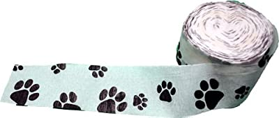 "Crepe Paper Streamer 1.8""X98.4""-Dog Paw"