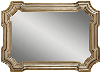 """Angelica Silver And Gold 43"""" x 31"""" Wall Mirror"""