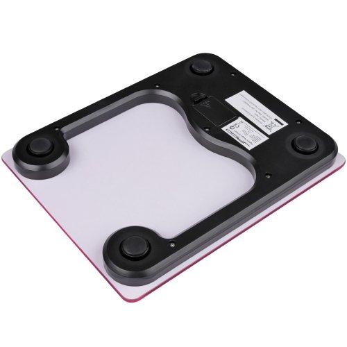 Balance de cuisine - rose - numérique - 1,0/7000 g - graduation : 1,0 g - affichage LCD - 20,5 x 16,5 x 2 cm - en verre - DIVERSES COULEURS AU CHOIX