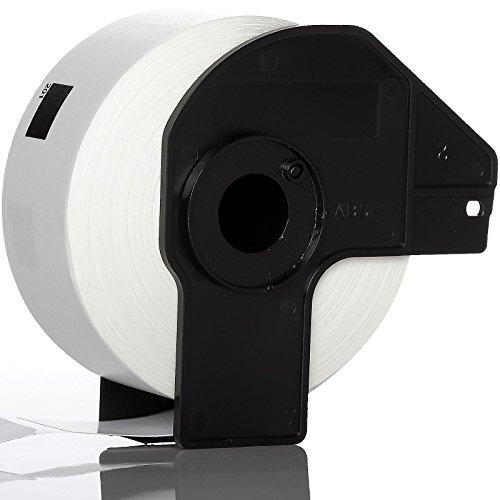 eTrader - Bobine Étiquettes Adresse Blanc Standard DK11201 Pour Imprimantes Étiquettes Brother P-Touch QL 700