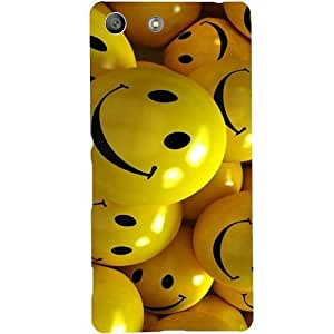 Casotec Smiles Smile Yellow Design Hard Back Case Cover for Sony Xperia M5 Dual