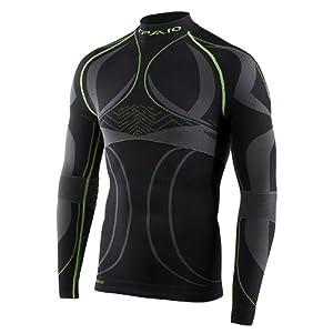 Spaio Revolution Line Herren Kompression Thermohemd Funkstionsunterwäsche Skiunterwäsche langarm T-Shirt M