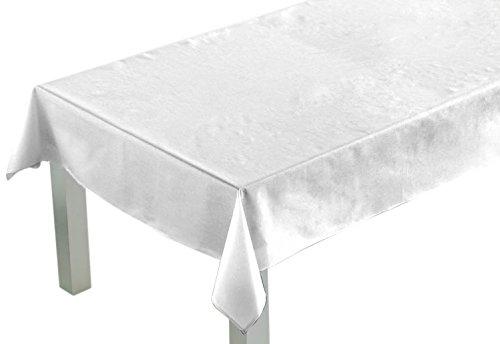 Comptoir du Linge lpr05001Tischdecke rechteckig Polyester/Baumwolle 200x 150x 0,5cm, weiß, 150 x 200 x 0,5 cm