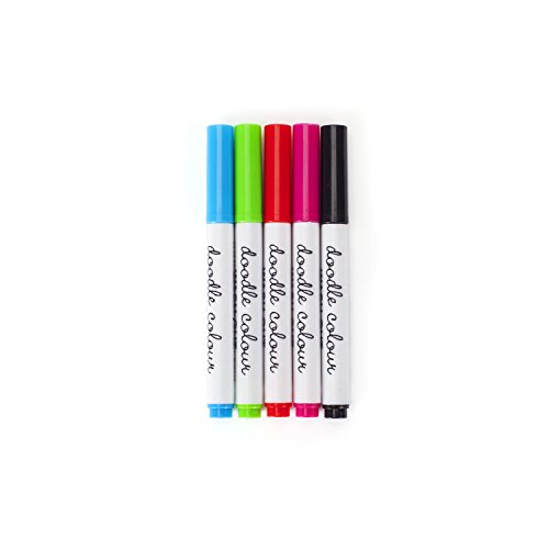 Doodle Color Wash-out Mini Fabric Markers, 5-pack of Mini Fabric Pens