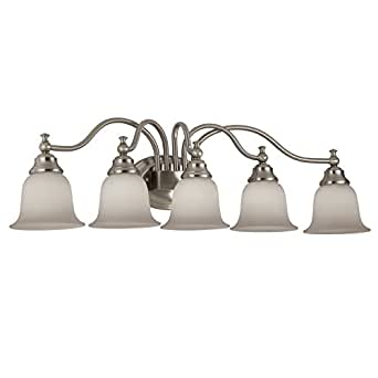 Portfolio 5 light brandy chase brushed nickel bathroom - 8 light bathroom fixture brushed nickel ...