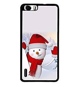 printtech Snow Christmas Back Case Cover for Huawei Honor 6 ,Versions: - H60-L01 TDD LTE (Single SIM) - H60-L02 FDD&TDD LTE, HSDPA - H60-L04 FDD&TDD LTE, HSDPA (Single SIM) - H60-L12 FDD LTE, HSDPA, NFC - H60-L12 FDD LTE, NFC