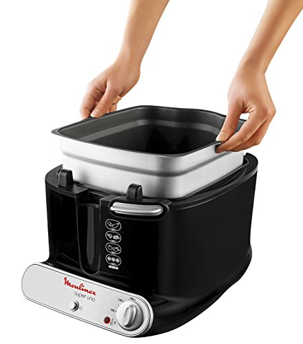 moulinex am300830 friteuse classique super uno noir 40 x 27 5 x 28 cm. Black Bedroom Furniture Sets. Home Design Ideas