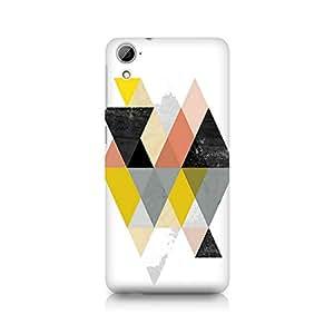 Ebby Random Colorful Triangles Premium Printed Case For HTC Desire 826