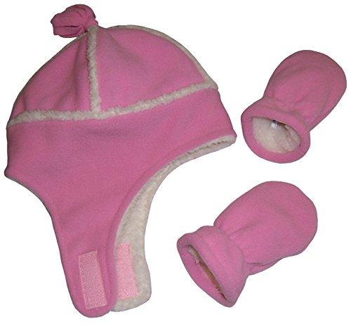 nice-caps-baby-unisex-reversed-sherpa-lined-fleece-set-6-18-months-pink