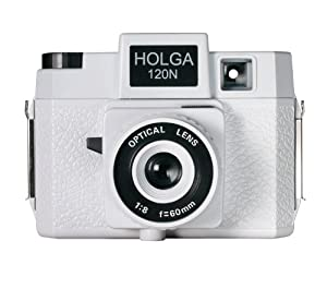 Holga 173120 120N Casablanco Holgawood Collection Plastic Camera (White)