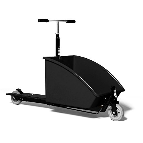 Nimble Scooter Monopattino Original Cargo con contenitore 68L - Midnight Black