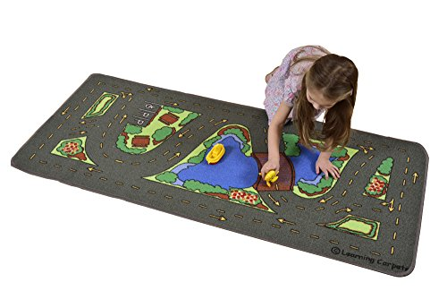 """Learning Carpets Drive Around The Park, 27 x 60"""""""