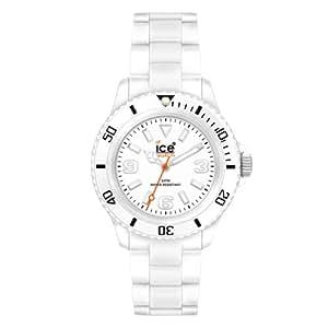 Ice Watch - CL.WE.U.P.09 - Montre Mixte - Quartz Analogique - Cadran Blanc - Bracelet Plastique Blanc - Moyen Modèle