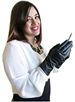 FOWNES Women's Cashmere Lined Conductive Metisse Leather Smart Gloves